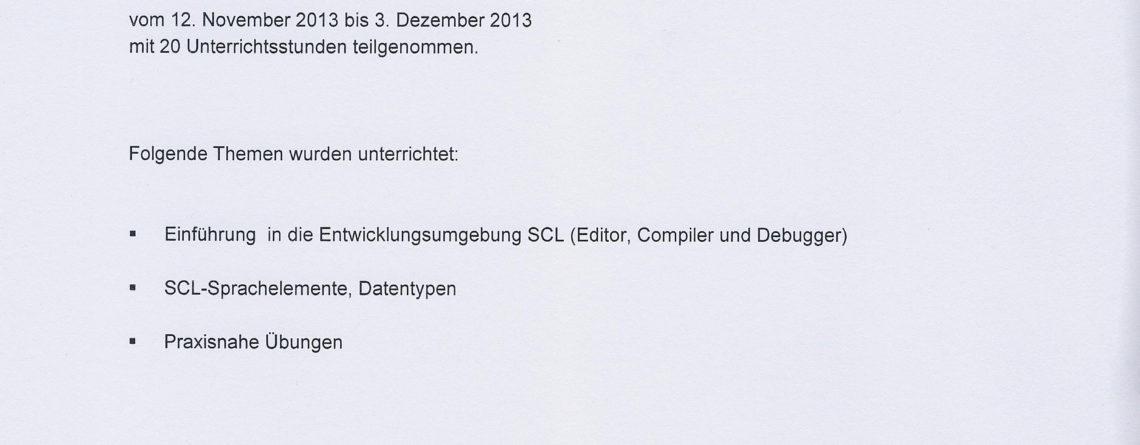SCL Zertifikat